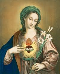 sacred heart painting the sacred heart of mary by german school