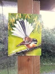 new zealand fantail bird outdoor artwork outside art piwakawaka nz native bird  on outdoor wall art new zealand with new zealand fantail bird outdoor artwork outside art piwakawaka