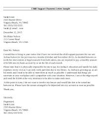Letter For Child Support Voluntary Child Support Agreement Letter