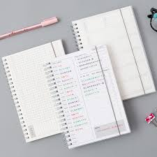 planners weekly monthly us 3 87 47 off daily weekly monthly 2019 2020 planner spiral a5 notebook time memo planning organizer agenda school office schedule stationary in