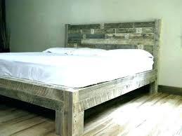 solid wood platform bed frame king diy simple real cal plans size beds home improvement stunning d rustic wit
