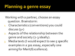 as demonstrate understanding of a specific media industry  working a partner choose an essay question brainstorm 1