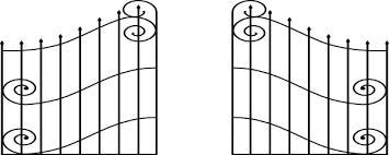 gate clip black drawing doors open door png transpa