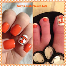 Tennessee Football Nail Designs Tennessee Vols Tn Vols Football Nails Hot Nails Hair