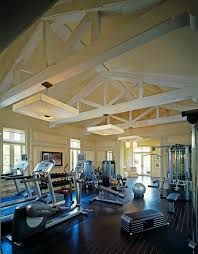 home gym lighting. gym ceiling design home traditional with free weights vaulted dark floor lighting