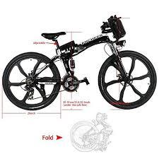 Ancheer 250W 26″ <b>Folding Electric</b> Mountain <b>Bike</b> Super ...