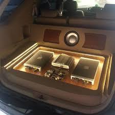 17 best ideas about car audio loudspeaker enclosure toyota suv rear hatch wood floor car audio amp rack leds distribution trunk