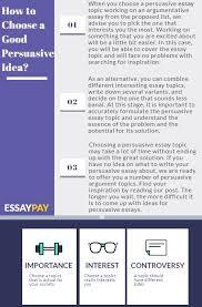 104 New Persuasive Essay Topics Get Your Ideas Essaypay Com