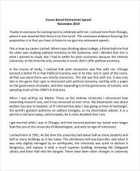 Retirement Speech Example Unique 44 Retirement Speech Examples Samples