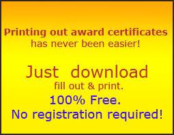 Printable Awards Templates Certificate Templates Free Printable Certificate Templates