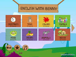 Мобильные приложения для изучения иностранных языков Это еще одно игровое приложение для обучения детей английскому языку Главный герой игры приветливый слоненок Бенни Именно он станет проводником ребенка