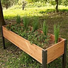 elevated outdoor raised garden bed
