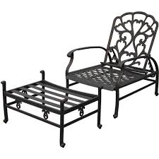 Patio Recliner Chairs Darlee Catalina Cast Aluminum Patio Reclining Club Chair And
