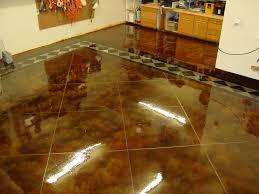stained concrete garage floor. Delighful Concrete Intended Stained Concrete Garage Floor