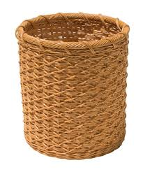 small wicker wastebasket with lid. Modren Wastebasket Amazoncom Organize It All Natural Wicker Wastebasket Cream Home U0026  Kitchen In Small Wastebasket With Lid