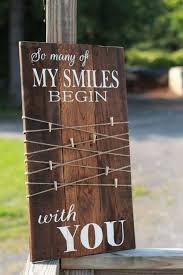 so many of my smiles begin with you rustic photo display reclaimed wood sign
