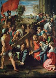 christ falling on the way to calvary raphael 1516 1517