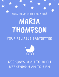 Babysitting Templates Flyers Babysitter Childcare Flyer Template Postermywall
