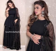 Black Sharara Designs Mouni Roy In A Black Sharara Suit South India Fashion
