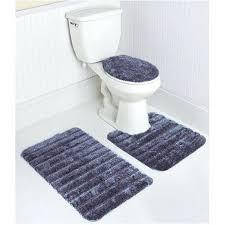 mohawk bathroom rugs stripe bath rug set in navy mohawk bath rugs spa collection mohawk home