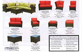 living room cabo outdoor wicker sectional sofa set nc270