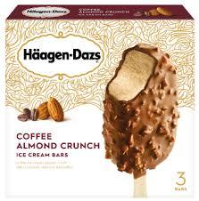 Breyers coffee ice cream is a popular coffee flavored brand of ice cream. Coffee Almond Crunch Ice Cream Bar Haagen Dazs