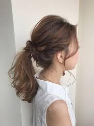 定番のポニーテール編み込みで後ろ姿に惚れるヘアアレンジhair