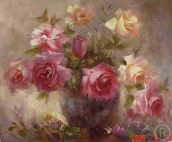 flower oil painting on canvas 100 hand made fl005