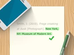 3 Ways To Cite A Photograph In Apa Format Wikihow