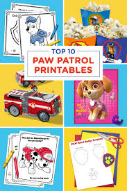 Small Picture The Top 10 PAW Patrol Printables of All Time Nickelodeon Parents