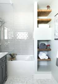 built in wall shelves bathroom wooden wall shelves bathroom vanity with drawers gray subway tile shower