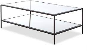 oliver glass coffee table antique steel