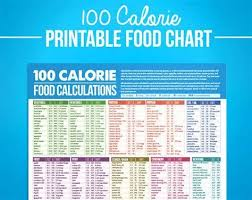 43 Unmistakable Food Chart With Calories Printable