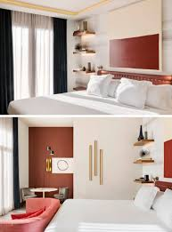 lighting for shelves. In This Modern Bedroom, Four Floating Wood Shelves With Hidden Lighting Have Been Installed, For