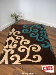 breathtaking turquoise and brown rug 22