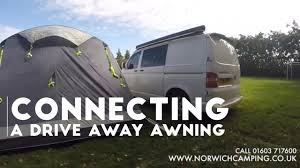 how to ways to attach a driveaway awning