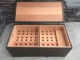 built by re purposing a us military issue footlocker pimped out with trays and other goos you can see some more pics