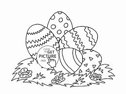 Five Easter Eggs Coloring Page For