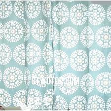 Teal Patterned Curtains Impressive Teal Patterned Curtains White Cheap Cotton Organic Light And Country