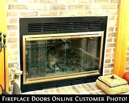 replacement fireplace glass fireplace glass doors