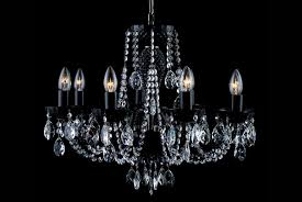 8 light black crystal chandelier in nickel tl 852 084 008