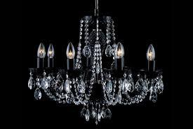 8 light black crystal chandelier in nickel tl 852 084 008