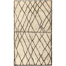 ivory and brown beni ourain rug morocco for