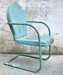 Vintage metal furniture outdoor