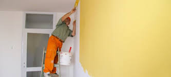 clean walls painted with flat paint