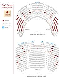 Fords Theatre Seating Chart Theatre In Dc
