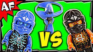 Lego Ninjago JAY vs COLE Airjitzu Battle & Review 70740 - YouTube