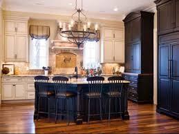 Dark Decorating Ideas Antique White Kitchen Cabinets With Black