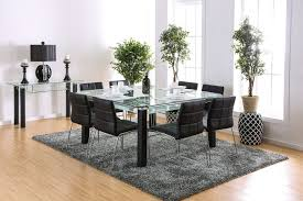 square glass dining table. Furniture Of America 3363T Square Glass Table Set | Spacious Top Dining With A