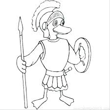 Roman Soldier Helmet Coloring Page Soldiers Pages Free To Print S